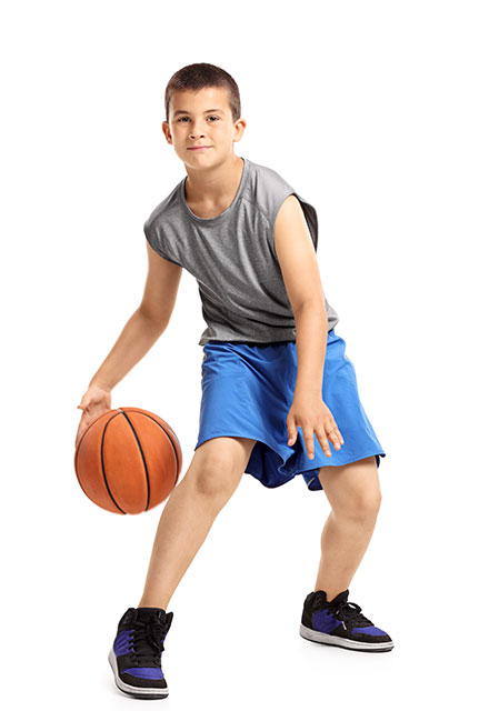 Basketball training action for boys aged 6-18 years