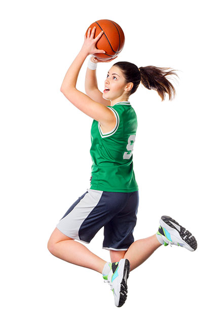 Basketball training action for girls aged 6-18 years