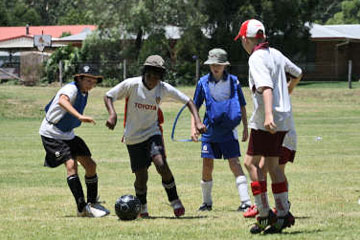 Learning and having fun together at Football Supercamps