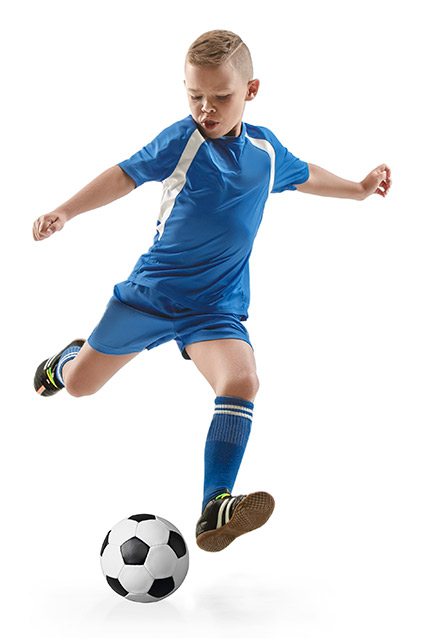 Football (soccer) training action for boys & girls aged 6-14 years